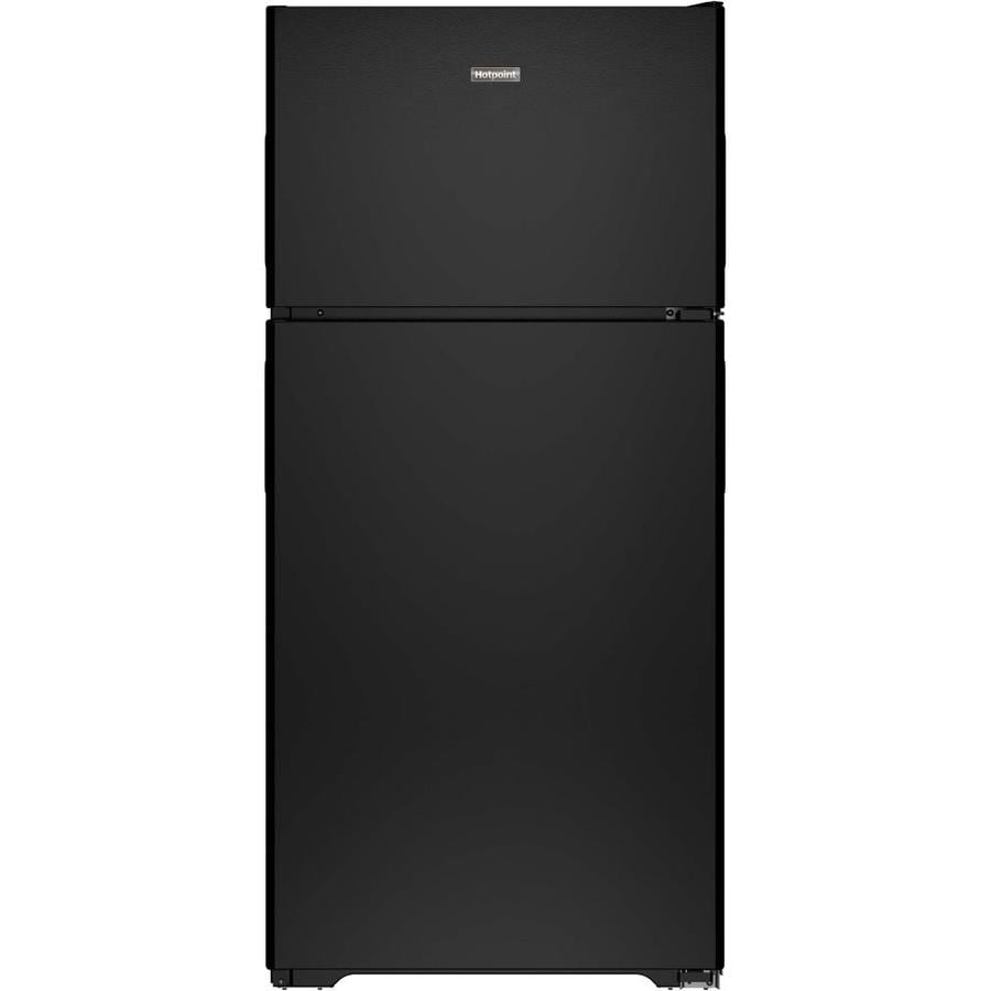 Hotpoint 14.6-cu ft Top-Freezer Refrigerator (Black)