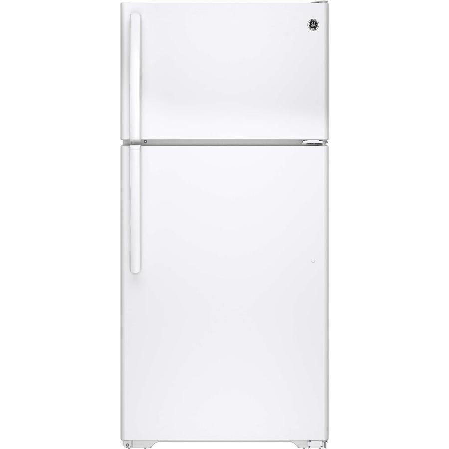 GE 14.6-cu ft Top-Freezer Refrigerator (White) ENERGY STAR