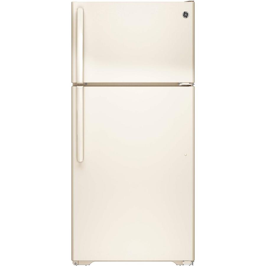 GE 14.6-cu ft Top-Freezer Refrigerator (Bisque) ENERGY STAR