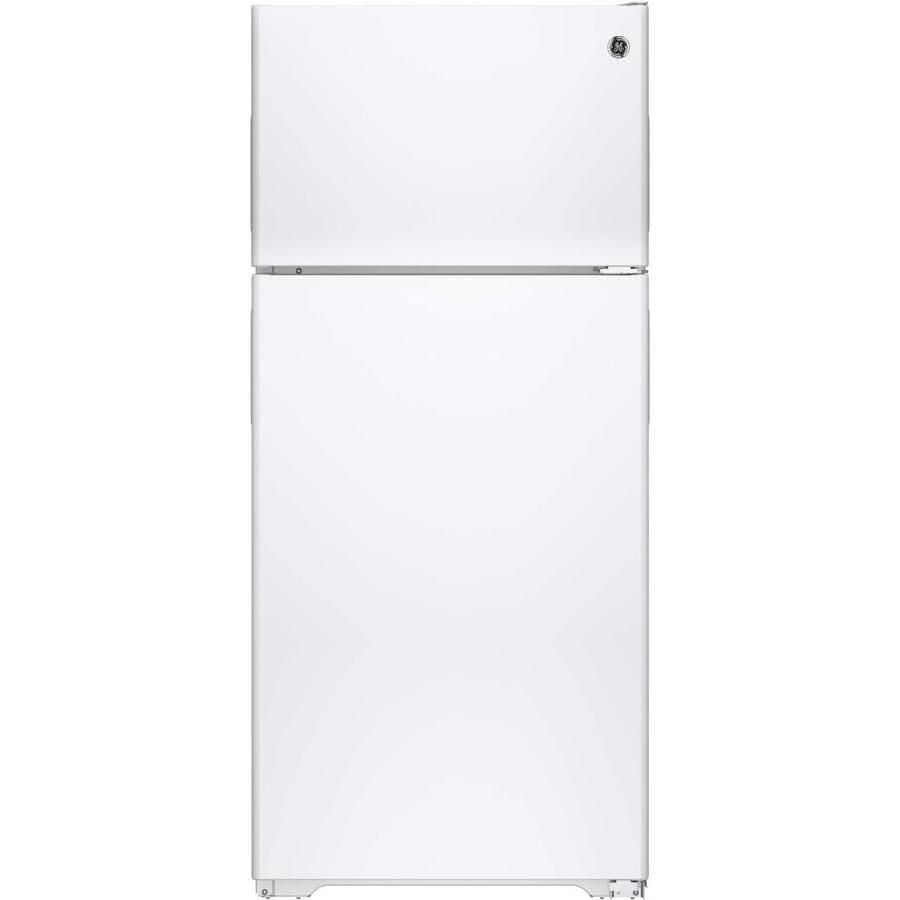 GE 15.5-cu ft Top-Freezer Refrigerator (White) ENERGY STAR