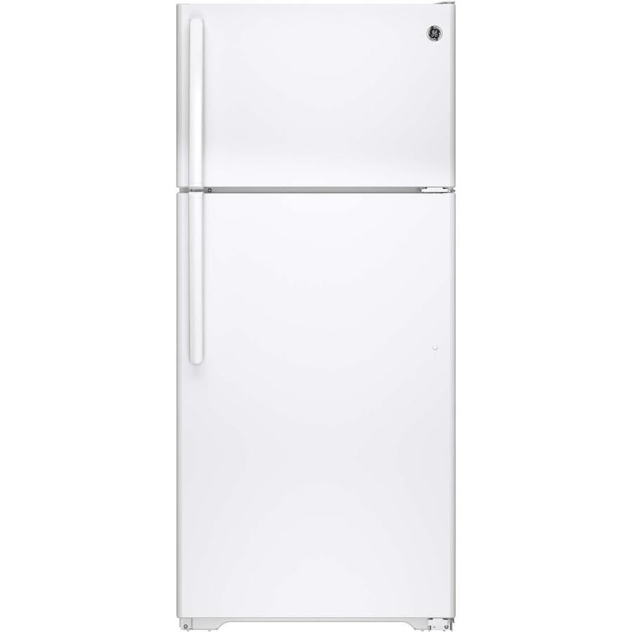Shop GE 15.5-cu ft Top-Freezer Refrigerator (White) at Lowes.com