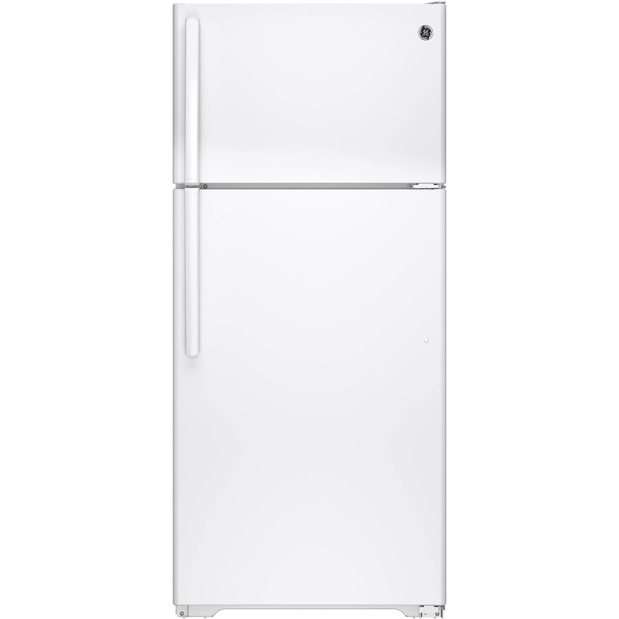 GE 15.53-cu ft Top-Freezer Refrigerator (White) ENERGY STAR