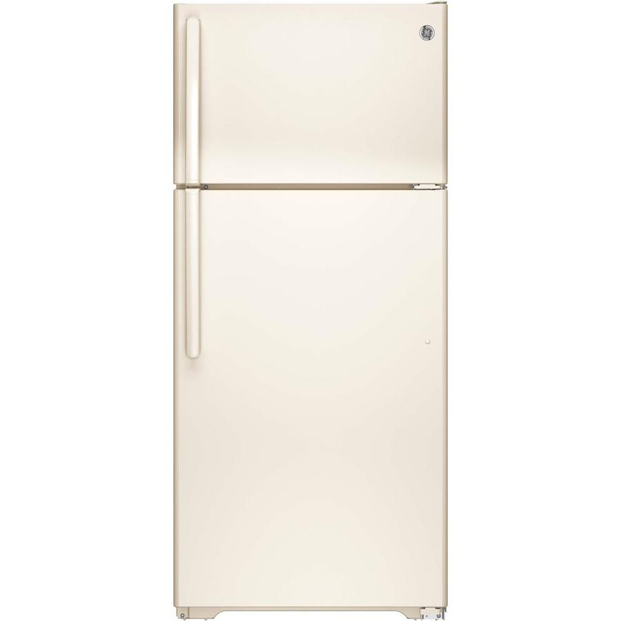 GE 15.5-cu ft Top-Freezer Refrigerator (Bisque) ENERGY STAR