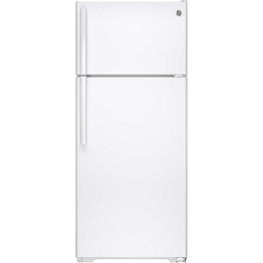 GE 17.5-cu ft Top-Freezer Refrigerator (White)