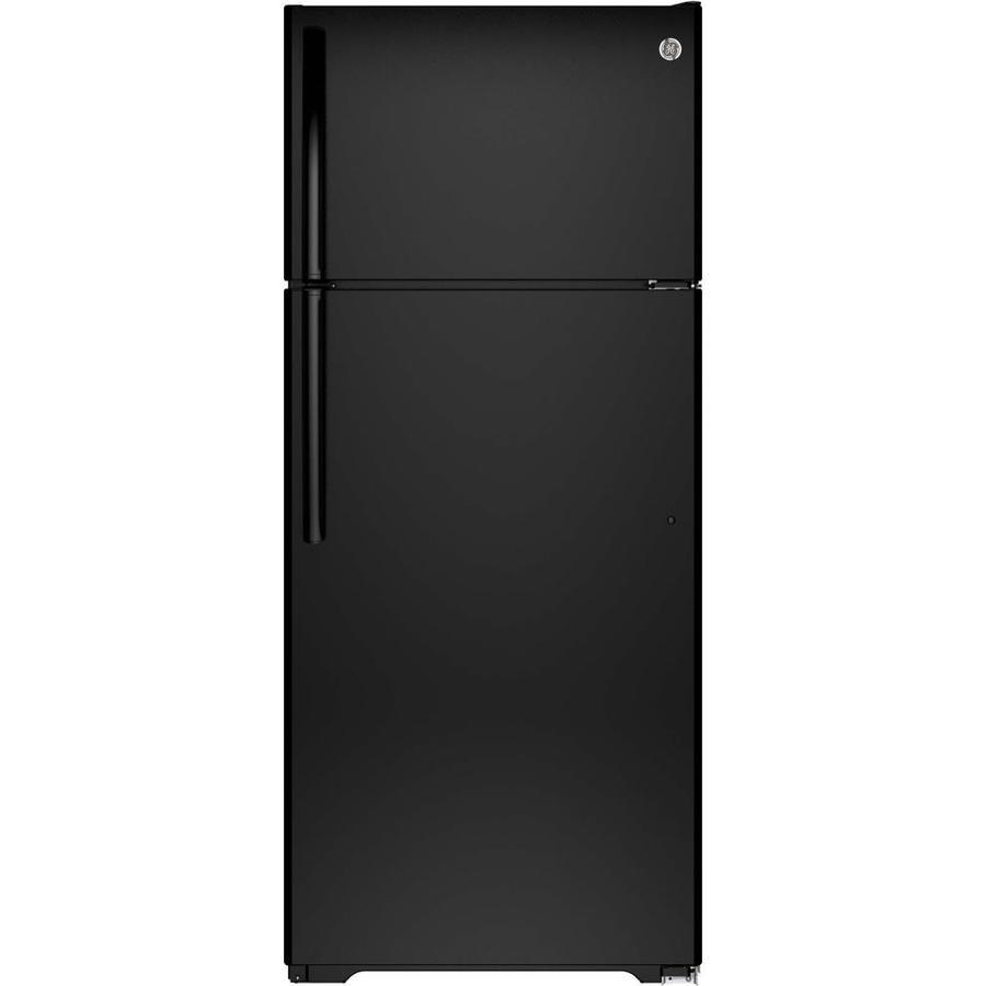 GE 17.5-cu ft Top-Freezer Refrigerator (Black) ENERGY STAR