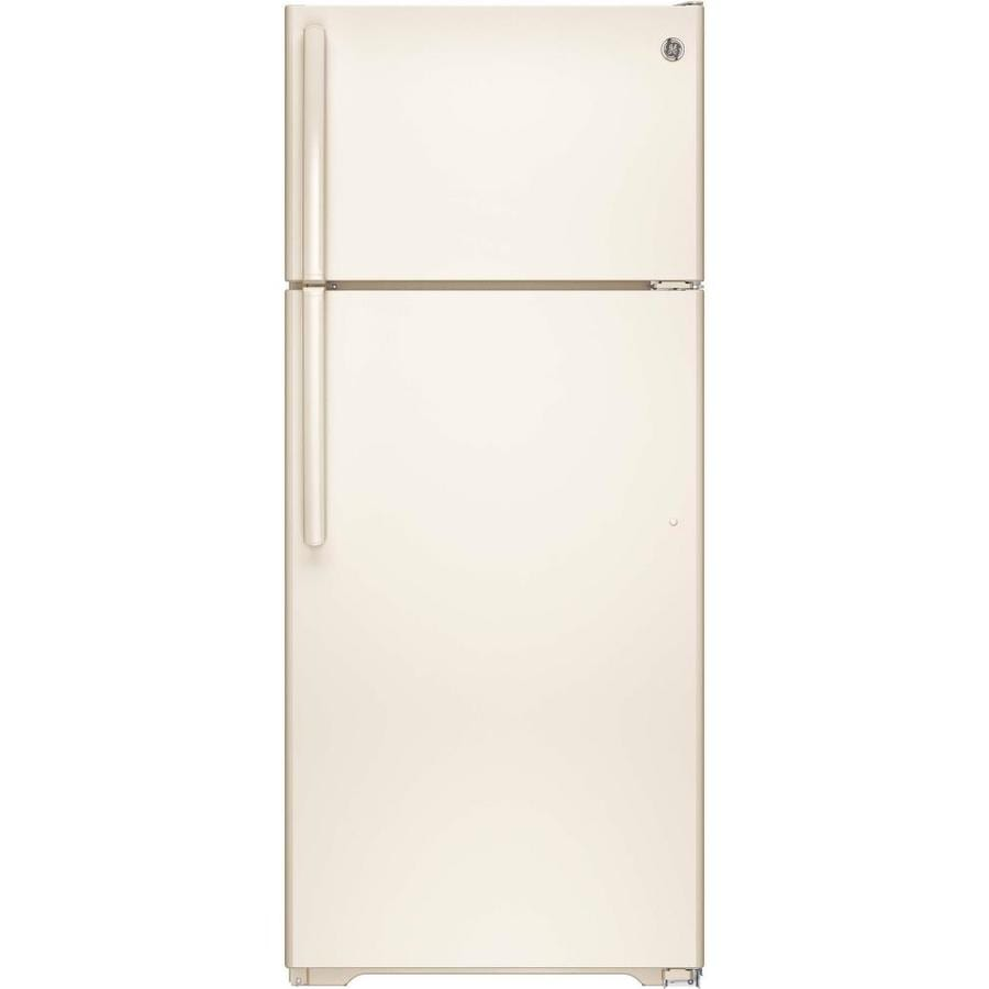 GE 17.5-cu ft Top-Freezer Refrigerator with Single Ice Maker (Bisque) ENERGY STAR