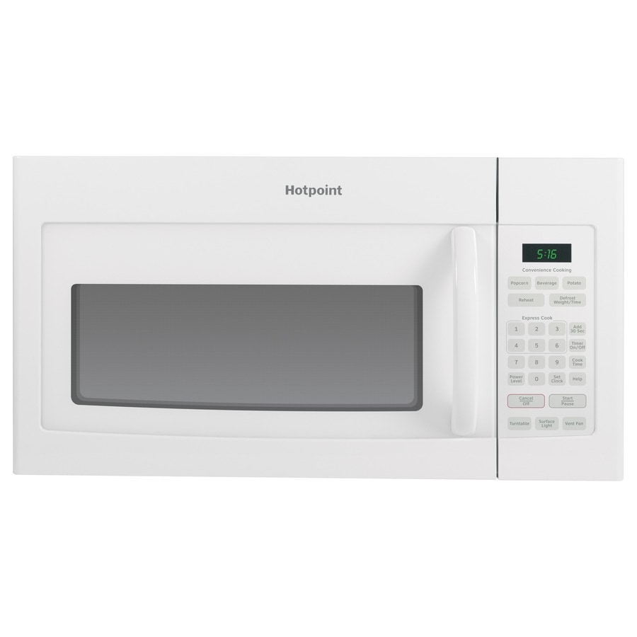 Hotpoint 1.6-cu ft Over-the-Range Microwave (White) (Common: 30-in; Actual: 29.875-in)