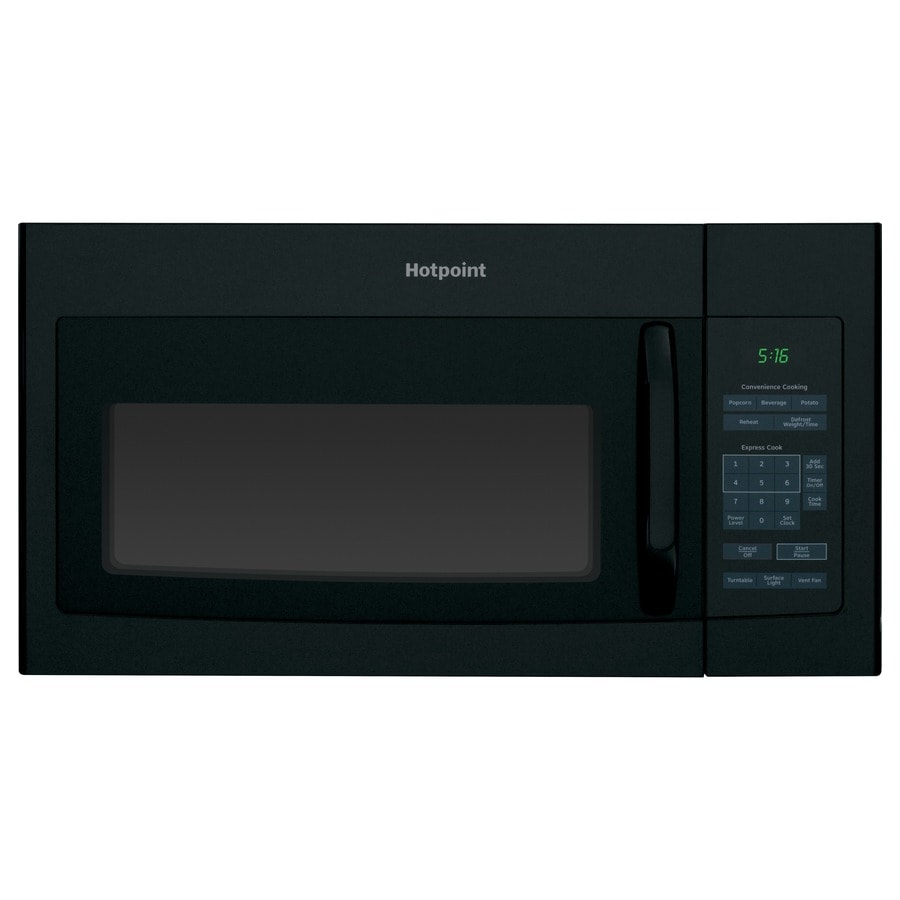 Hotpoint 1.6-cu ft Over-The-Range Microwave (Black) (Common: 30-in; Actual: 29.87-in)