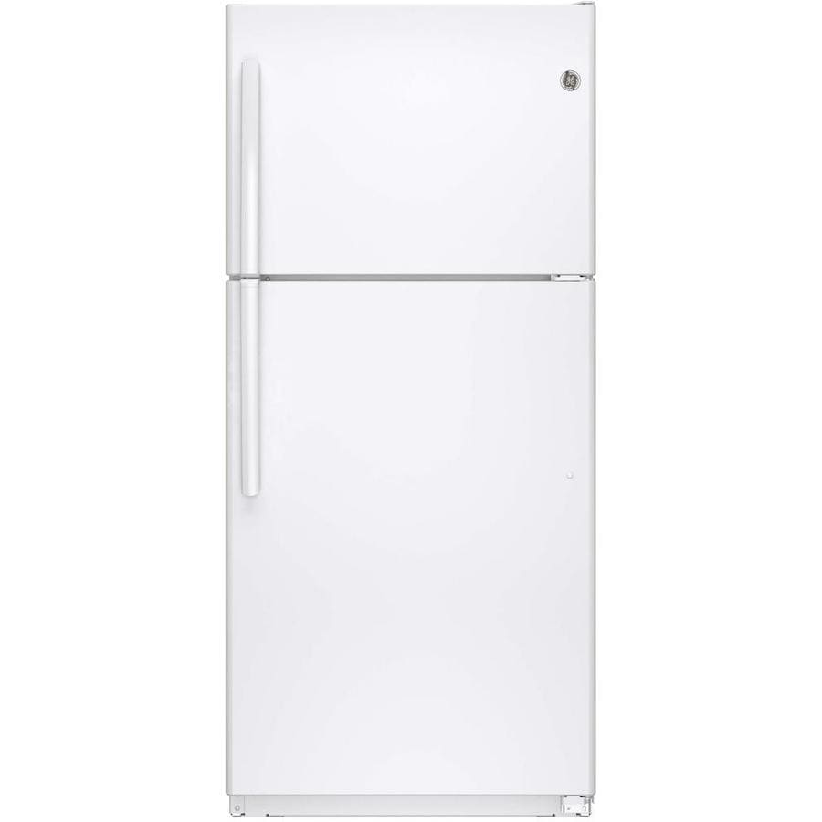 GE 18.2-cu ft Top-Freezer Refrigerator (White) ENERGY STAR