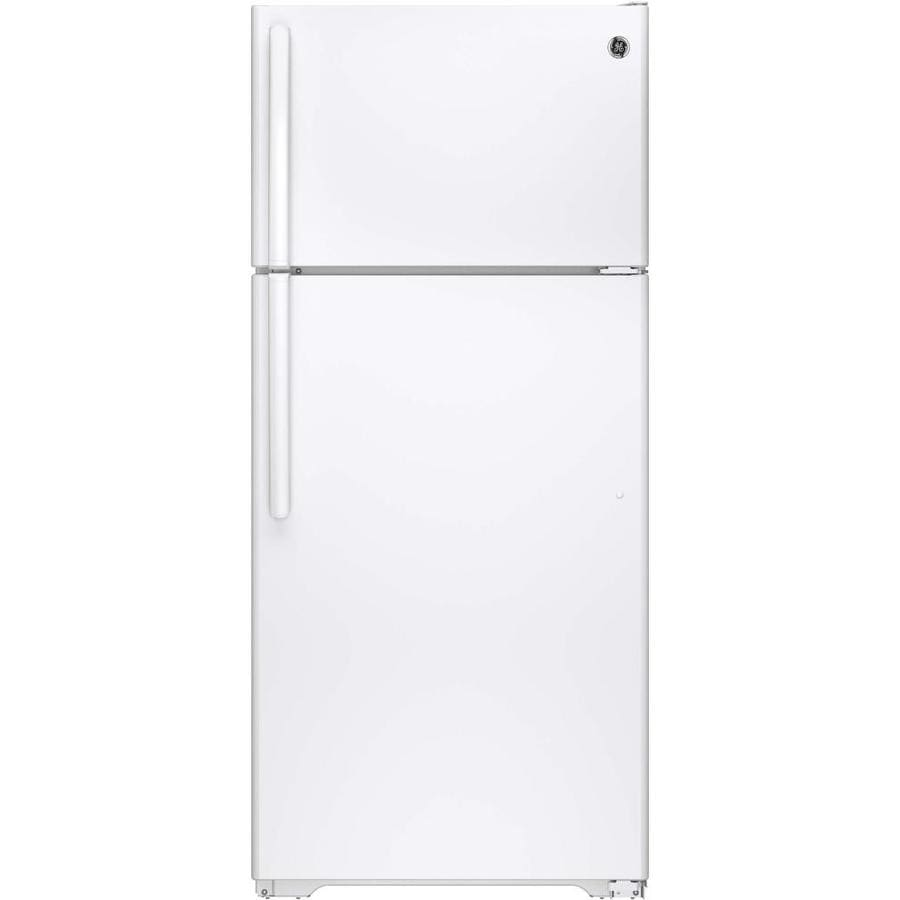 GE 15.5-cu ft Top-Freezer Refrigerator (White) ENERGY STAR