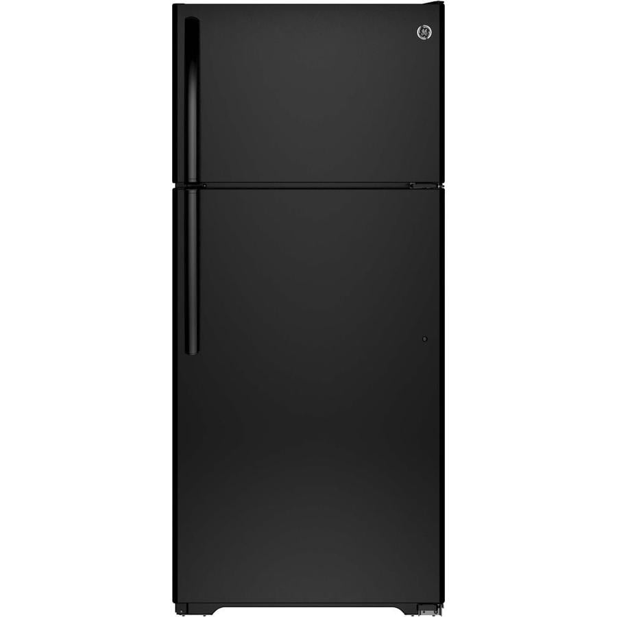 GE 15.5-cu ft Top-Freezer Refrigerator (Black)