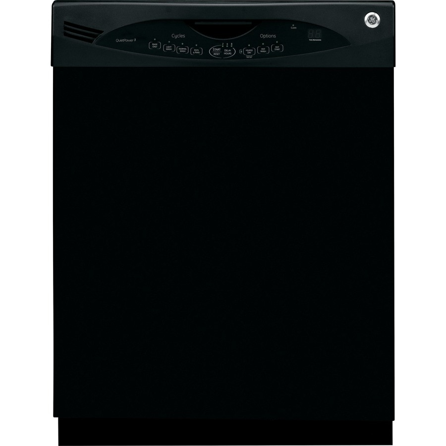 GE 56-Decibel Built-In Dishwasher with Hard Food Disposer (Black) (Common: 24-in; Actual: 24-in)