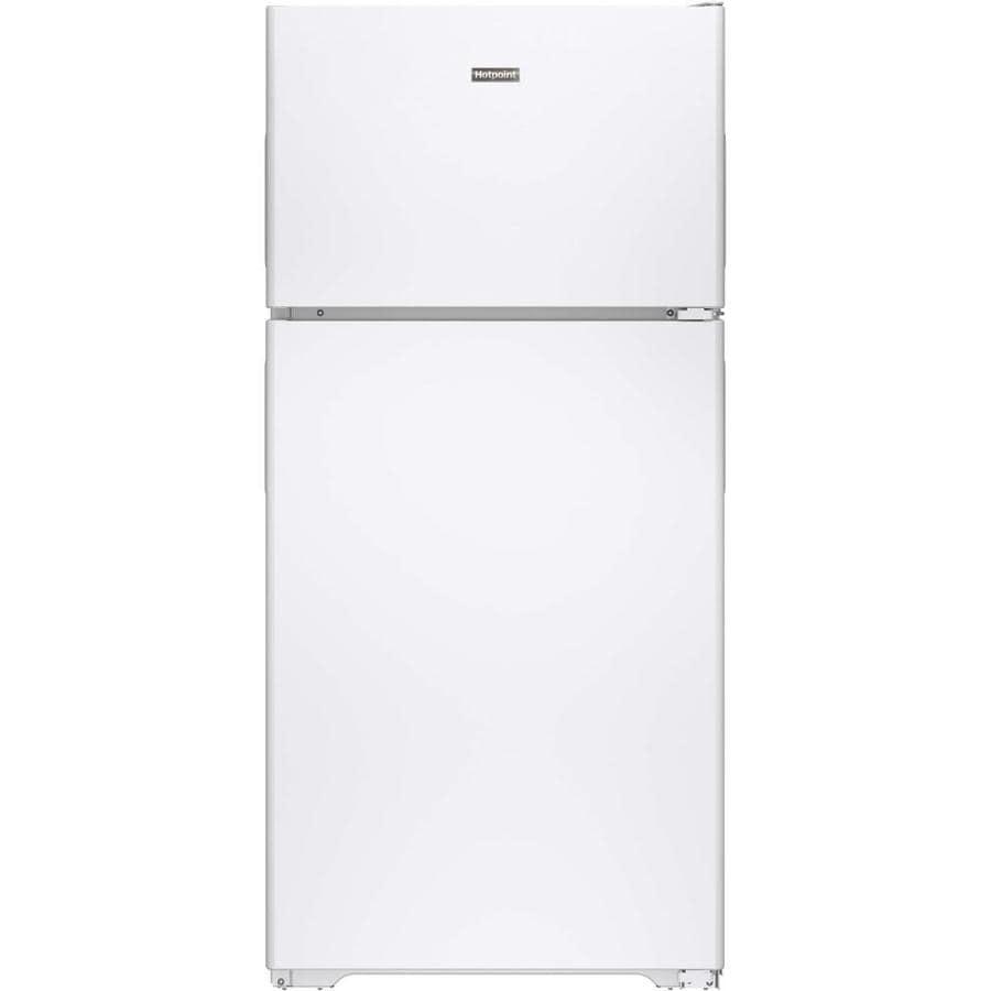Hotpoint 14.6-cu ft Top-Freezer Refrigerator (White) ENERGY STAR