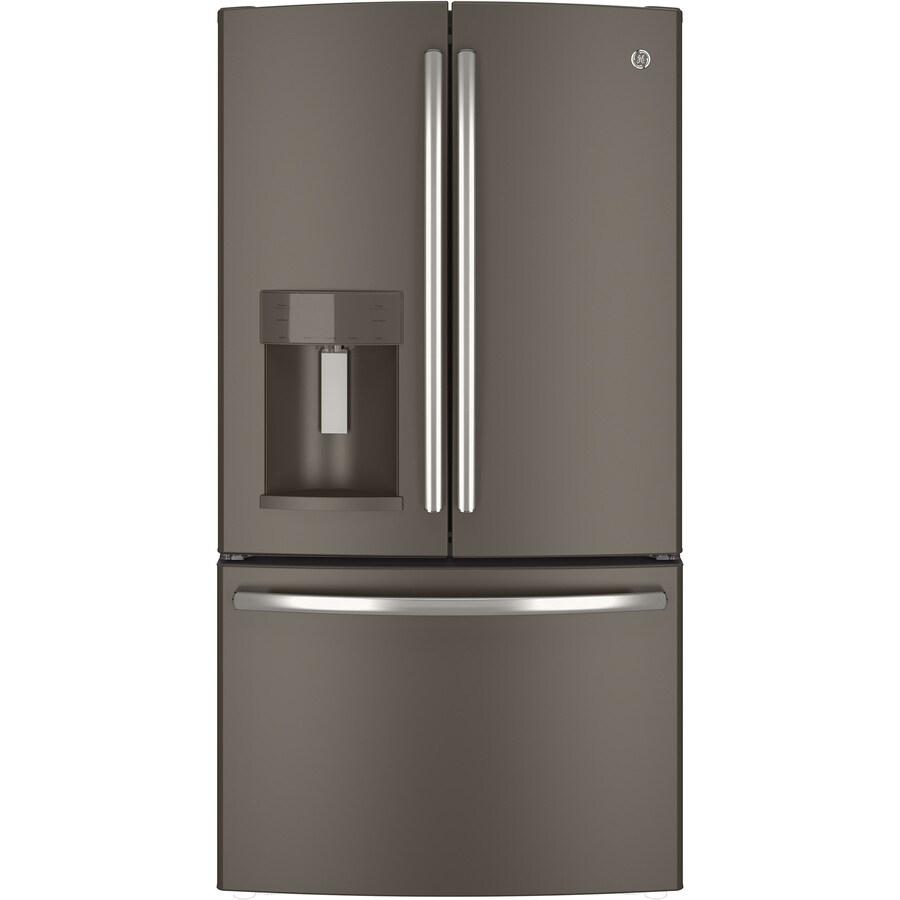 lg refrigerators lowes. ge 27.7-cu ft french door refrigerator with ice maker (slate) lg refrigerators lowes s