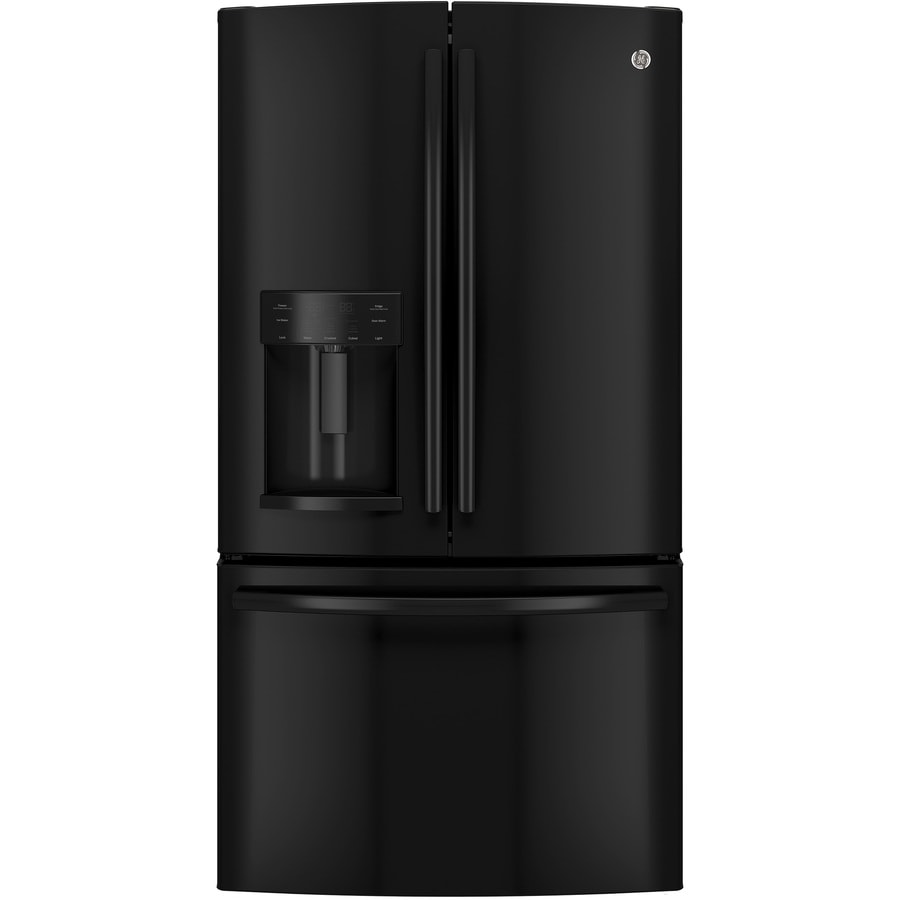 Ge 27 7 Cu Ft French Door Refrigerator With Dual Ice Maker Black Energy