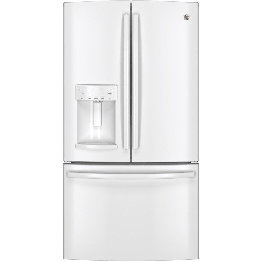 Ge 27 7 Cu Ft French Door Refrigerator With Dual Ice Maker White Energy