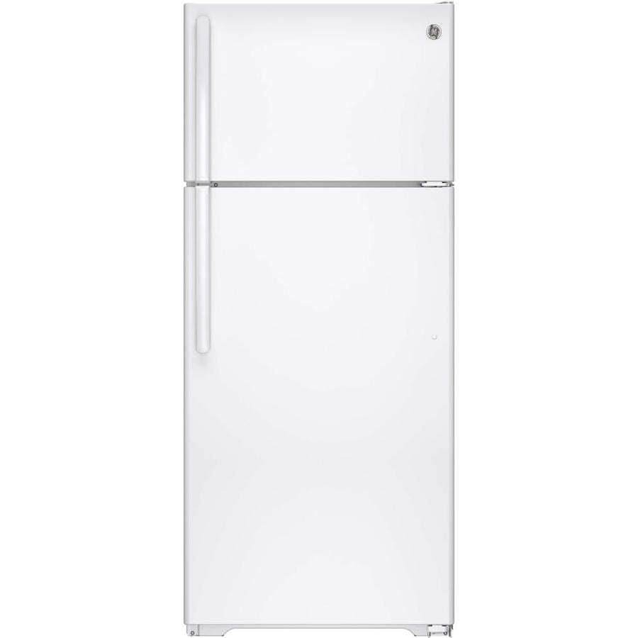 GE 17.6-cu ft Top-Freezer Refrigerator with Ice Maker (White) ENERGY STAR