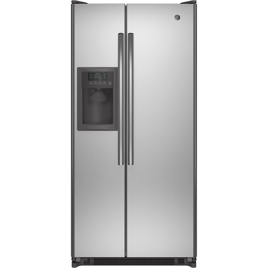 Shop GE 20 cu Ft Side by Side Refrigerator With Single Ice