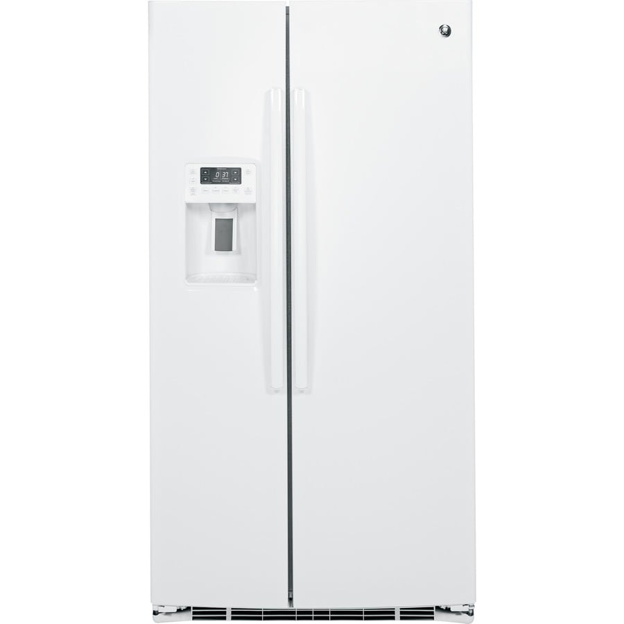 GE Profile 25.4-cu ft Side-by-Side Refrigerator with Single Ice Maker (White) ENERGY STAR