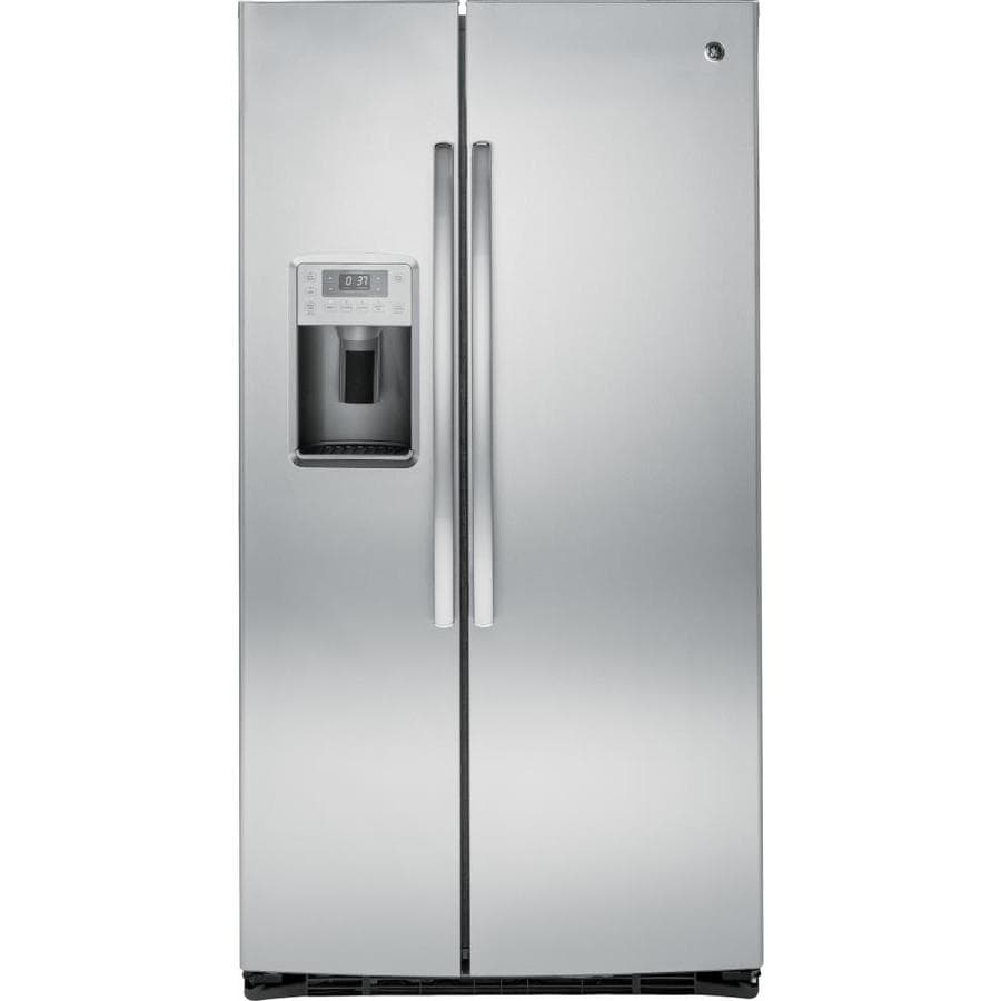 GE Profile 25.4-cu ft Side-by-Side Refrigerator with Ice Maker (Stainless steel) ENERGY STAR