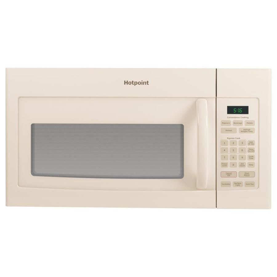Hotpoint 1.6-cu ft Over-The-Range Microwave (Bisque) (Common: 30-in; Actual: 29.87-in)
