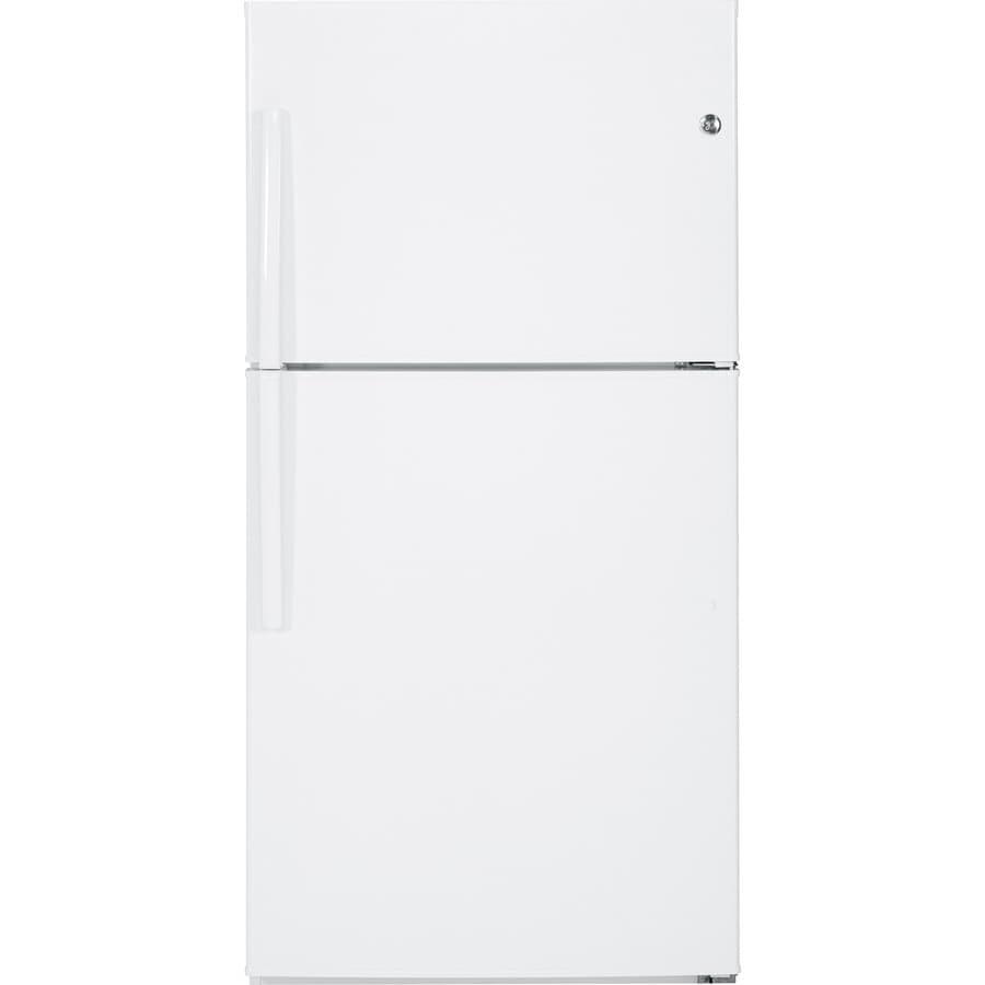 GE 21.2-cu ft Top-Freezer Refrigerator (White) ENERGY STAR