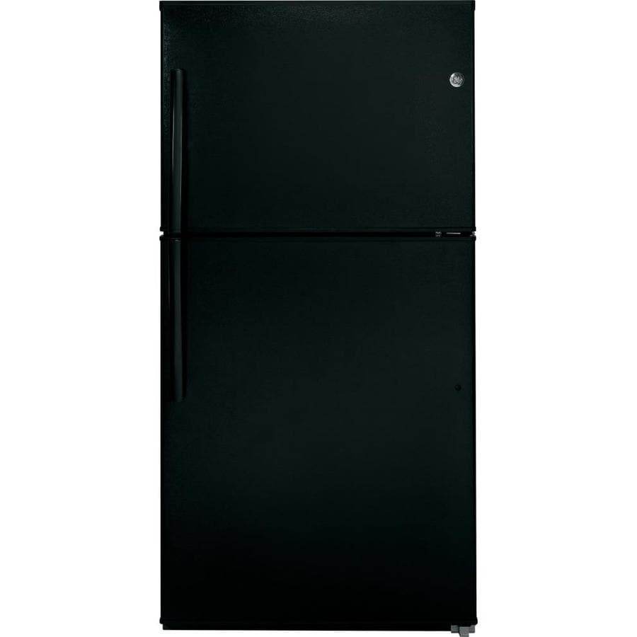 GE 21.2-cu ft Top-Freezer Refrigerator (Black) ENERGY STAR