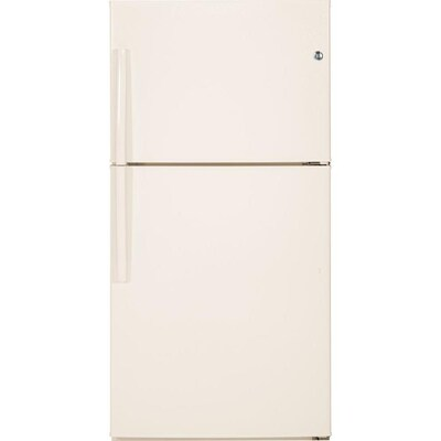 GE 21 2-cu ft Top-Freezer Refrigerator (Bisque) ENERGY STAR