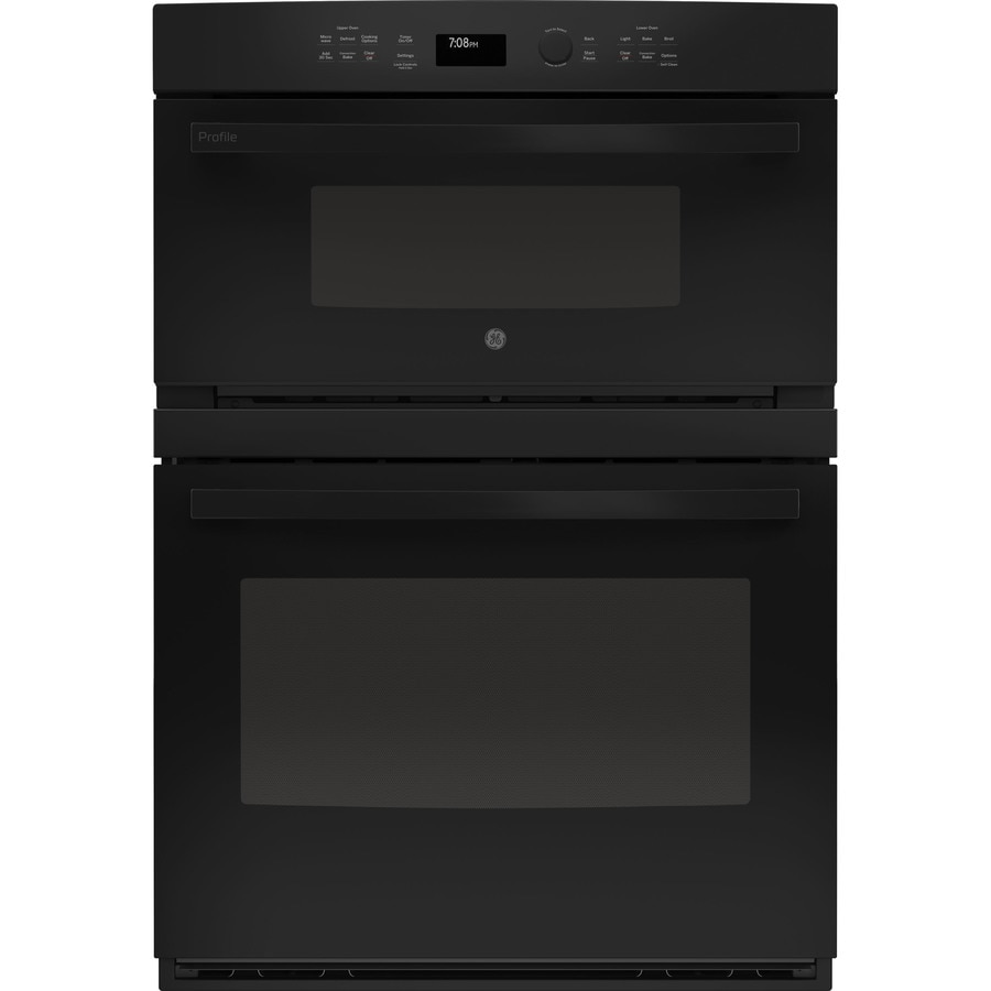 Oven Baking Element >> Shop GE Profile Self-cleaning with Steam Convection Microwave Wall Oven Combo (Black) (Common ...