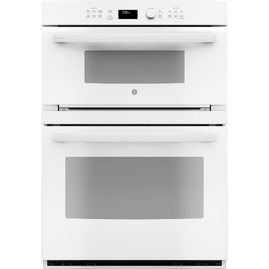 Wall Oven Microwave Combo White: GE Profile Self-cleaning With Steam Convection Microwave