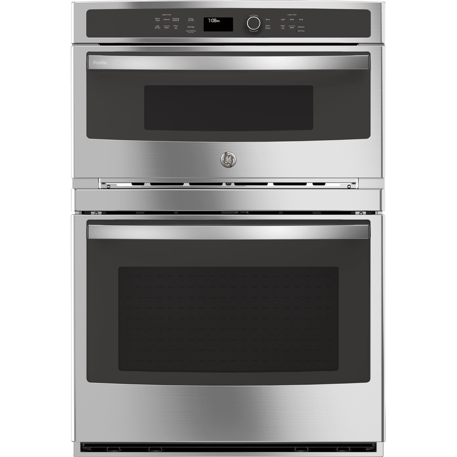 GE Self-Cleaning with Steam Microwave Convection Microwave Wall Oven Combo (Common: 30-in; Actual: 29.75-in)