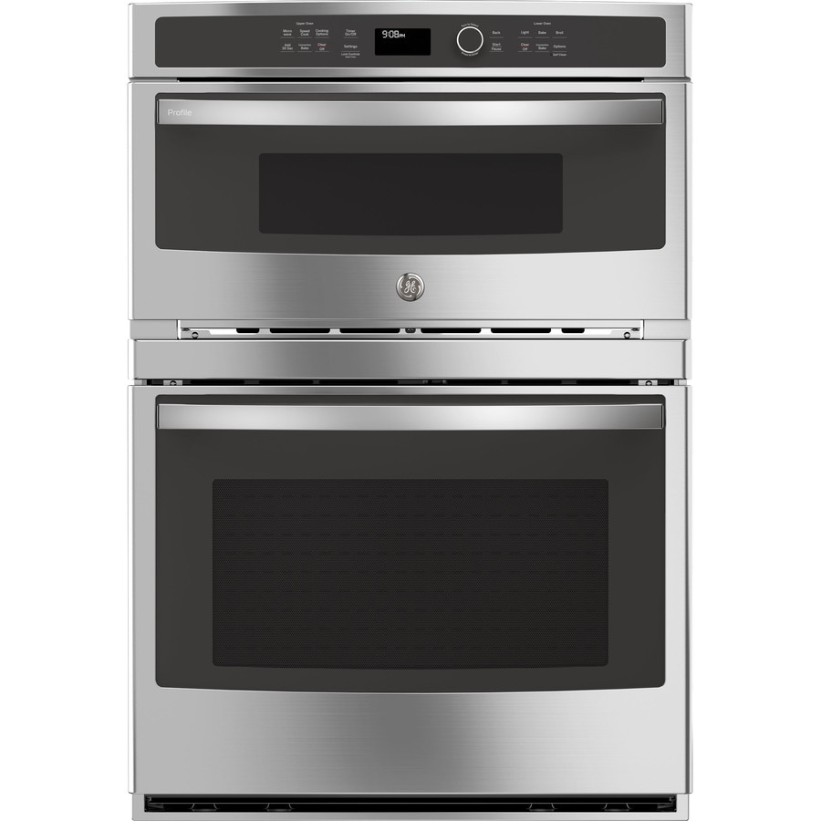 Ge Profile Self Cleaning With Steam Convection Microwave Wall Oven Combo Stainless Steel