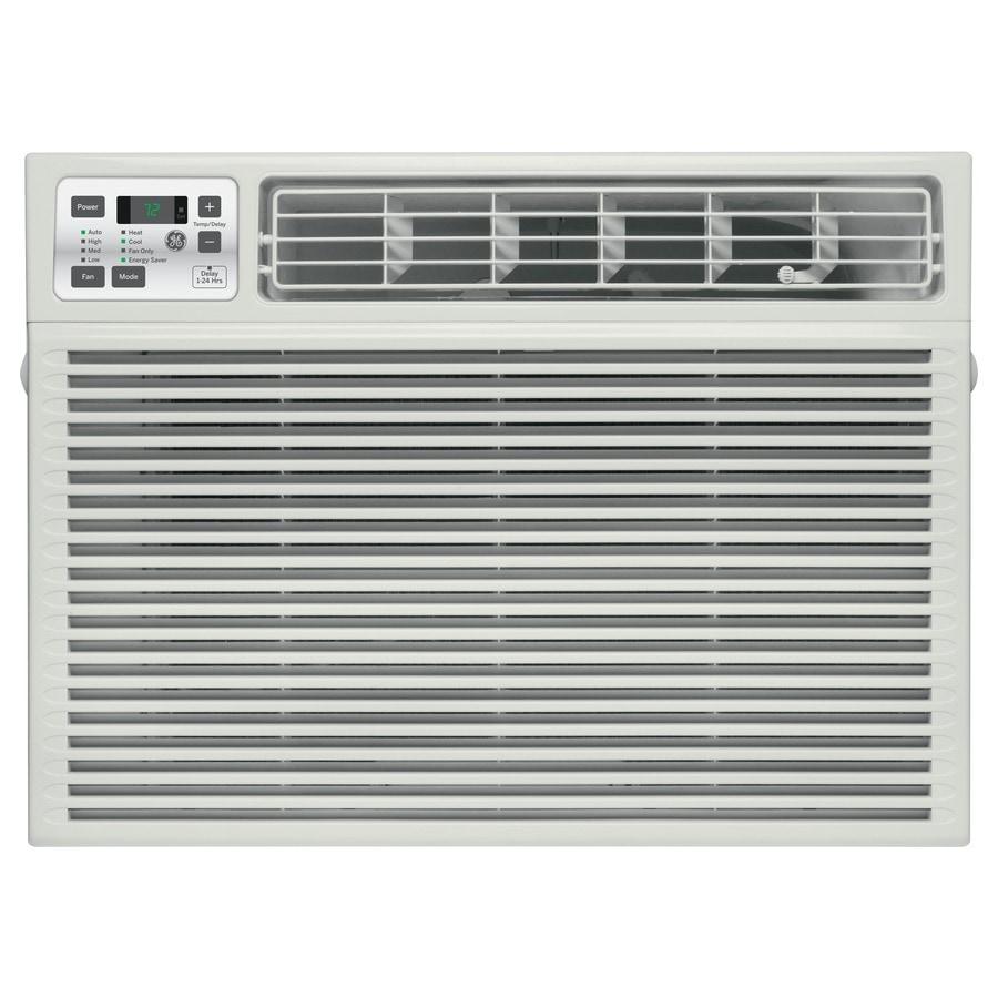 GE 18000 BTU 1000 Sq Ft 230 Volt Window Air Conditioner With Heater