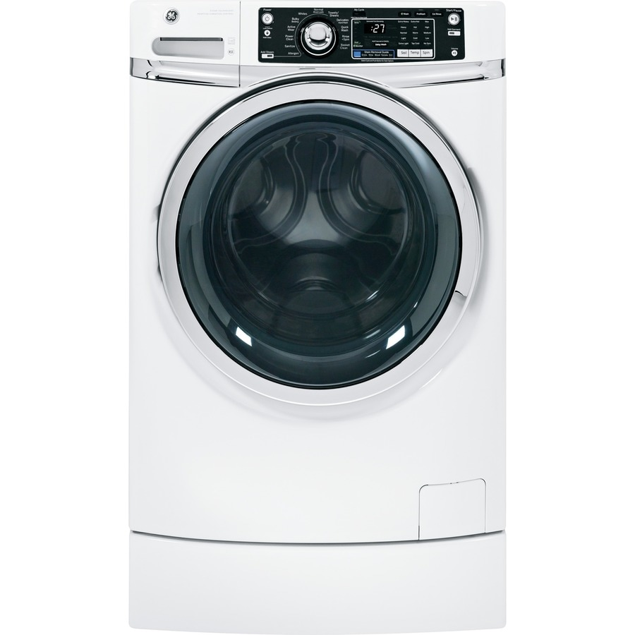 GE 4.5-cu ft High-Efficiency Front-Load Washer with Steam Cycle (White) ENERGY STAR