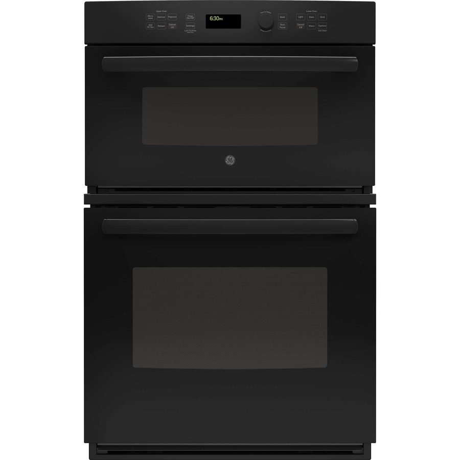 Ge Self Cleaning With Steam Microwave Wall Oven Combo Black Common