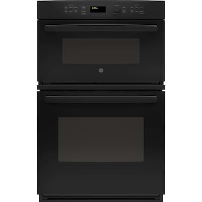 GE Self-cleaning Microwave Wall Oven Combo (Black 27 Inch