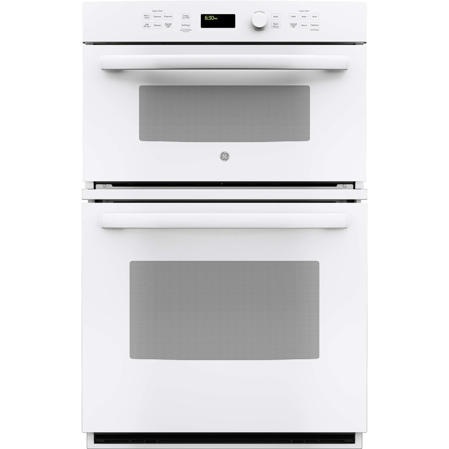 GE Self-Cleaning Microwave Wall Oven Combo (White) (Common: 27-in; Actual: 26.75-in)