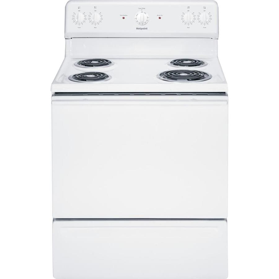 Hotpoint Freestanding 5-cu ft Electric Range (White) (Common: 30-in; Actual: 29.875-in)