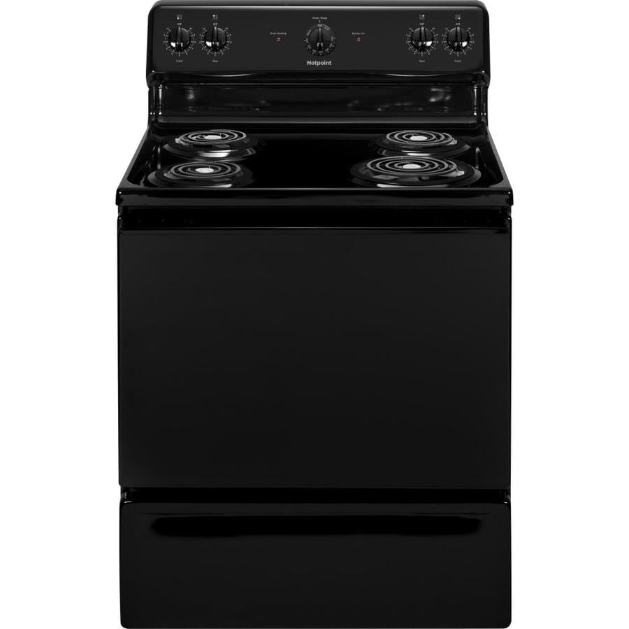 Hotpoint Freestanding 5-cu ft Electric Range (Black) (Common: 30-in; Actual: 29.875-in)