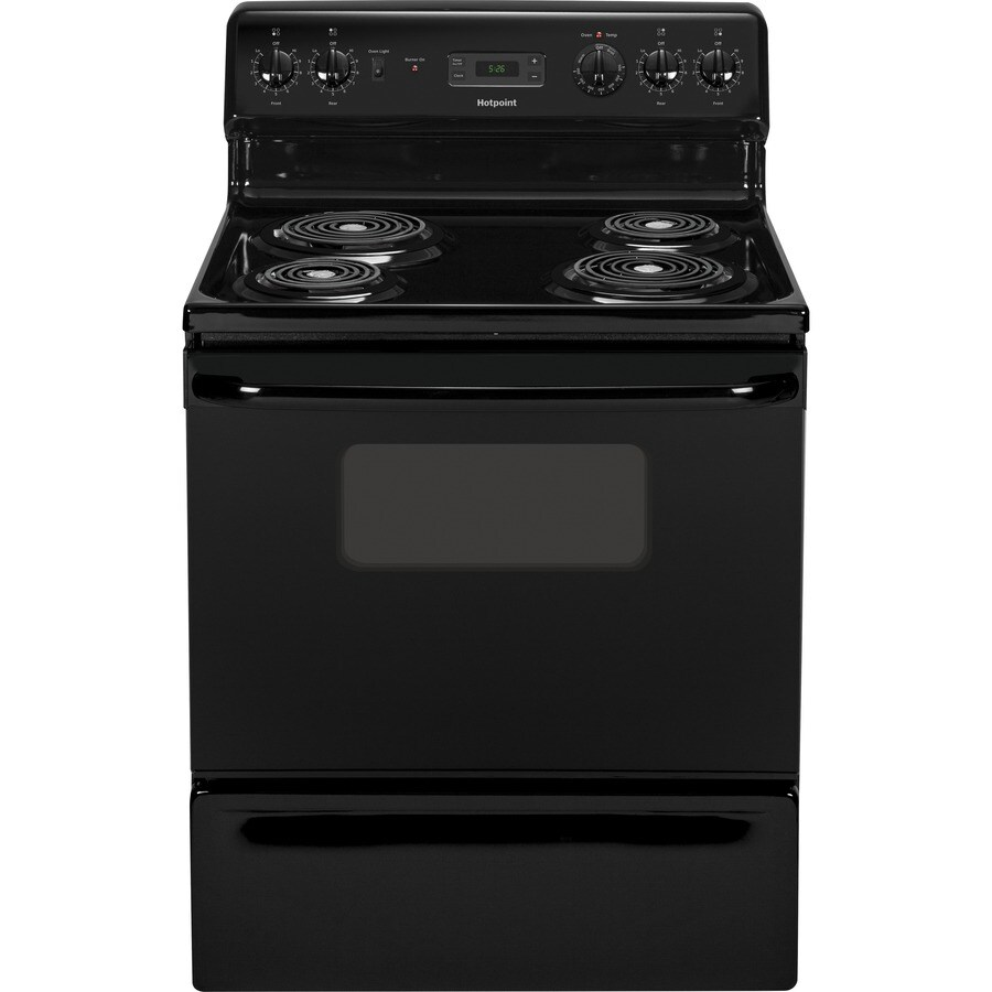 Hotpoint Freestanding 5-cu ft Electric Range (Black) (Common: 30-in; Actual: 29.87-in)