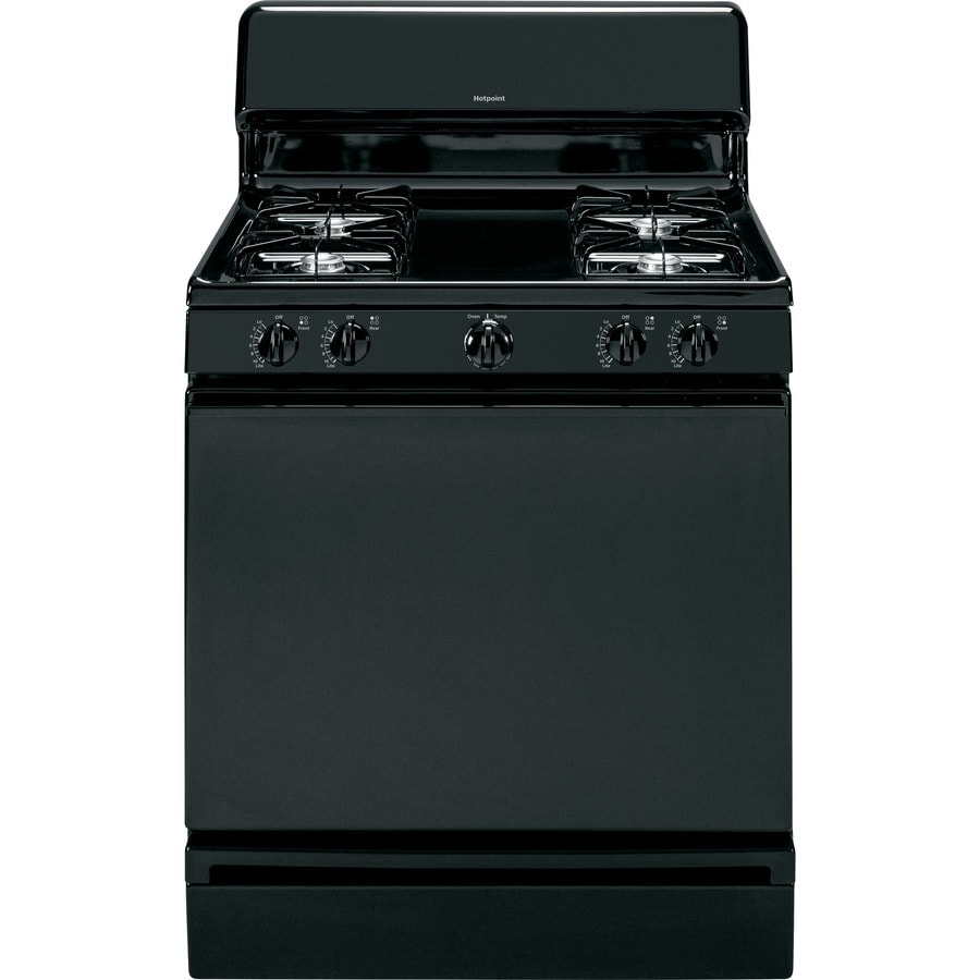 Hotpoint Freestanding 4.8-cu ft Gas Range (Black) (Common: 30-in; Actual: 30-in)