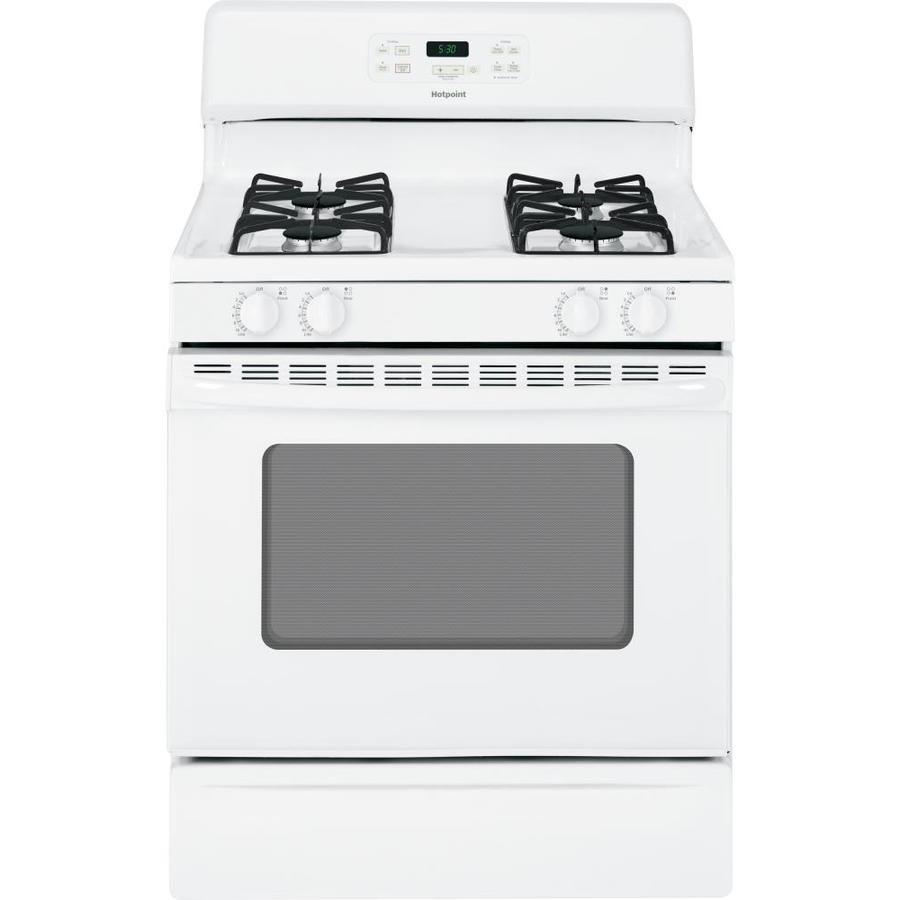 Hotpoint Freestanding 4.8-cu ft Gas Range (White) (Common: 30-in; Actual: 30-in)