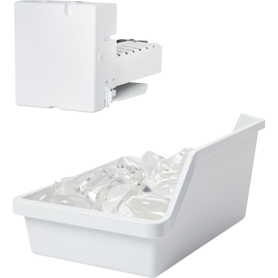 Shop Ge Top Freezer Refrigerator Ice Maker White At