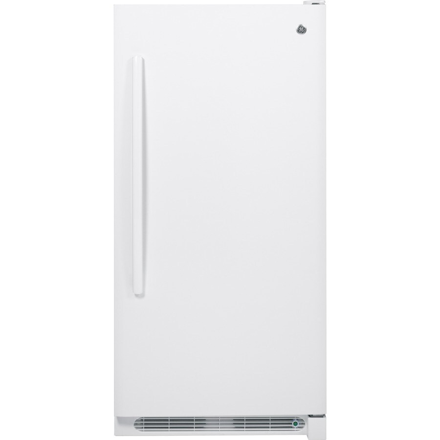 GE 13.8-cu ft Frost-Free Upright Freezer (White)