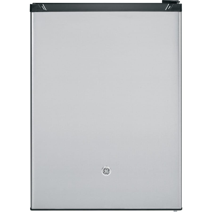 GE 5.6-cu ft Built-In/Freestanding Compact Refrigerator with Freezer Compartment (Stainless Steel) ENERGY STAR
