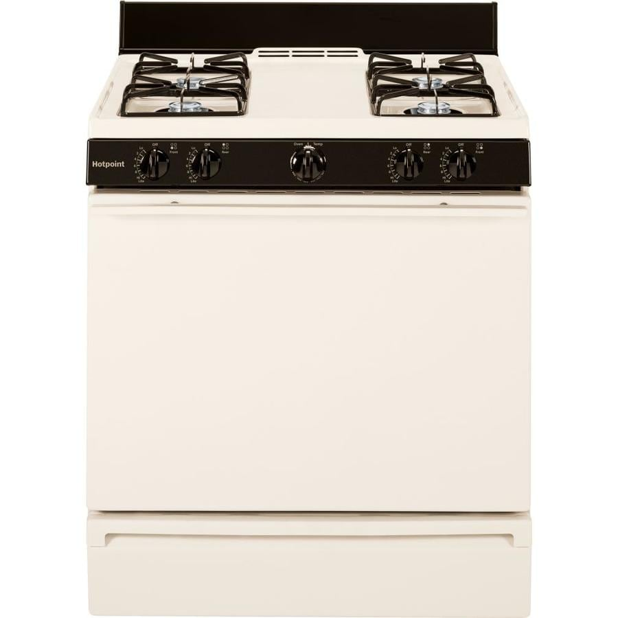 Hotpoint Freestanding 4.8-cu ft Gas Range (Bisque) (Common: 30-in; Actual: 30-in)