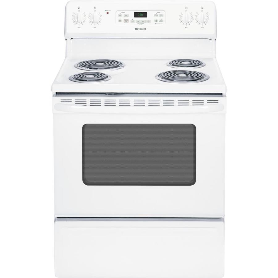 Hotpoint Hotpoint Freestanding 5-cu ft Self-Cleaning Electric Range (White) (Common: 30-in; Actual: 29.875-in)