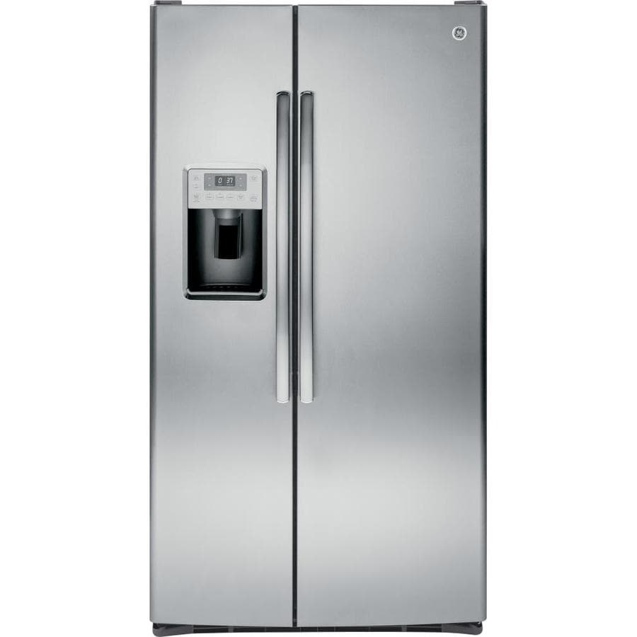 GE Profile 28.4-cu ft Side-by-Side Refrigerator with Single Ice Maker (Stainless Steel)