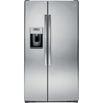 GE Profile 28 4-cu ft Side-by-Side Refrigerator with Ice