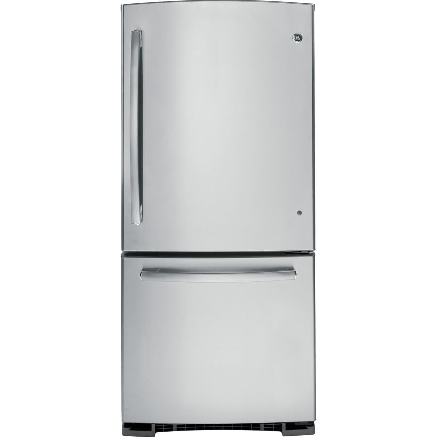 Shop GE 20.3-cu ft Bottom-Freezer Refrigerator (Stainless ...